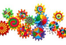 Engrenagens coloridas Imagens de Stock Royalty Free