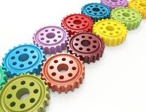 Engrenagens coloridas Foto de Stock Royalty Free