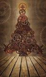 Engrenagens da árvore de Natal Fotos de Stock Royalty Free