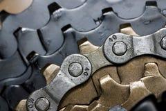Engrenagens da bicicleta Foto de Stock