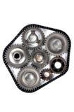 Engrenagens da engenharia da roda denteada Foto de Stock