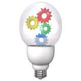 Engrenagens da lâmpada Imagem de Stock
