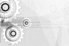 Engrenagens da tecnologia da máquina bacground retro do mecanismo da cremalheira Fotografia de Stock