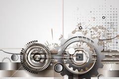 Engrenagens da tecnologia da máquina bacground retro do mecanismo da cremalheira Fotos de Stock Royalty Free