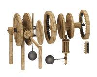 Engrenagens de Da Vinci Foto de Stock Royalty Free