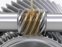 Engrenagens de lubrificação Imagem de Stock
