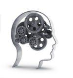 Engrenagens dentro de uma cabeça Imagens de Stock