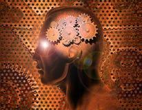 Engrenagens do cérebro Fotografia de Stock Royalty Free