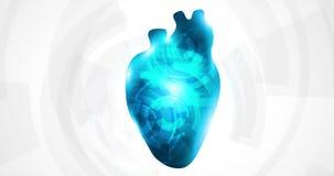 Engrenagens do coração ilustração stock