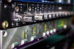 Engrenagens do estúdio de gravação foto de stock royalty free