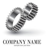 Engrenagens do logotipo Foto de Stock Royalty Free