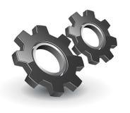 Engrenagens do logotipo 3D Fotos de Stock