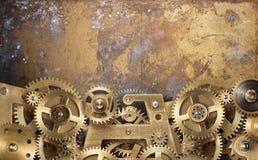 Engrenagens do maquinismo de relojoaria Imagens de Stock