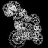Engrenagens do mecanismo do fio Imagens de Stock Royalty Free