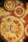 Engrenagens do mecanismo velho fotos de stock royalty free