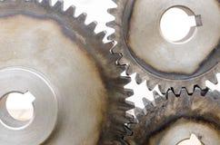 Engrenagens do metal no fundo branco Fotos de Stock Royalty Free