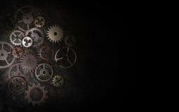 Engrenagens do metal no preto imagem de stock royalty free