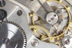 Engrenagens do relógio de bolso fotografia de stock