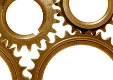 Engrenagens douradas 3 Imagem de Stock Royalty Free