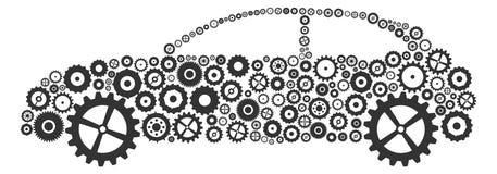 Engrenagens e rodas denteadas do carro Imagens de Stock