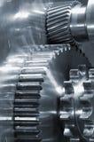 Engrenagens industriais em close-ups Fotos de Stock Royalty Free
