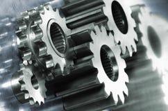 Engrenagens industriais na cor dupla Imagens de Stock