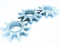 Engrenagens isoladas no branco Imagens de Stock Royalty Free