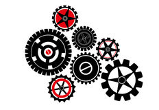Engrenagens mecânicas - ilustração Fotografia de Stock