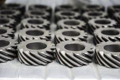 Engrenagens mecânicas no metal na casa da loja Imagem de Stock Royalty Free