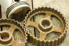 Engrenagens oxidadas Imagens de Stock