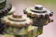 Engrenagens oxidadas velhas Imagens de Stock