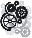 Engrenagens, rodas denteadas e rodas ilustração royalty free