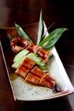 Enguia japonesa do assado do alimento (unagi) imagens de stock