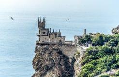 Engula o símbolo do castelo do ninho do ` s de Crimeia imagens de stock royalty free