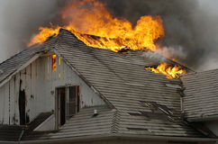 Engulfed. House fire Royalty Free Stock Photo