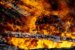 Engulfing Flames fire Royalty Free Stock Image