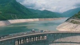 Enguri水坝-在Enguri河的一个水力发电的水坝在乔治亚 影视素材