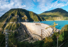 Enguri hydroelectric power station HES in Georgia Stock Photo
