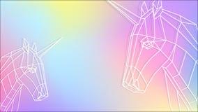 Enhörninghimmellutning vektor illustrationer