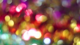 enhaced lampor för blurbokeh jul stock video