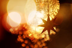 enhaced lampor för blurbokeh jul Arkivfoto