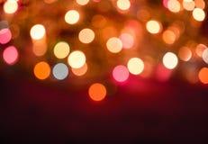 enhaced lampor för blurbokeh jul arkivbilder