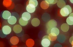 enhaced lampor för blurbokeh jul Royaltyfri Foto