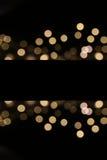 Enhaced Unschärfe der Leuchten Stockfoto