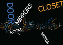 Enhance Your Room With A Closet Door Mirror Text Background  Word Cloud Concept