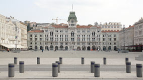 Enhet av den Italien fyrkanten Trieste Arkivfoton