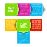 Enhet för behandlingsdiagram stock illustrationer