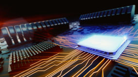 Enhet för central processor för makrosikt Arkivbild