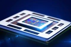 Enhet för central processor på mainboard Arkivbilder