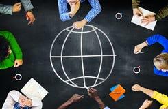 Enhet för global ekologi för värld som internationell mötande lär Concep Arkivfoton